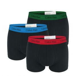 Boxerky Calvin Klein U2664G-BZP Černá s barevným pásem 3 balení Barva: Černá, Velikost: S