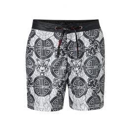 Pánské šortkové plavky Philipp Plein Sport ROAR Barva: Černá, Velikost: S, Pro obvod pasu: Pro obvod pasu (75-80cm)