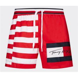 Šortkové plavky Tommy Hilfiger Logo Print UM0UM01718 0KS Barva: Červená, Velikost: M