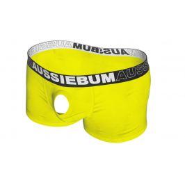 AussieBum SKLADEM ★ Novelty boxerky s otvorem AussieBum Orbit Hipster Sunshine Barva: Žlutá, Velikost: S