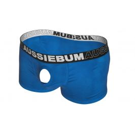 AussieBum SKLADEM ★ Novelty boxerky s otvorem AussieBum Orbit Hipster Blue Barva: Modrá, Velikost: S