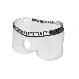 AussieBum SKLADEM ★ Novelty boxerky s otvorem AussieBum Orbit Hipster White Barva: Bílá, Velikost: S