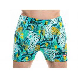 HUNK² Šortkové plavky Badehose Giungla Barva: Zelená, Velikost: XL