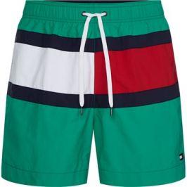Šortkové plavky Tommy Hilfiger Flag Panel UM0UM01070-LFD Zelená Barva: Zelená, Velikost: M