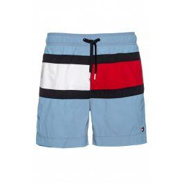 Šortkové plavky Tommy Hilfiger Flag Panel UM0UM01070-CFF Šedomodrá Barva: Šedá, Velikost: M