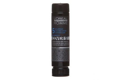 L´Oréal Professionnel Homme Cover 5 barva na vlasy No. 5 Light Brown 3 x 50 ml Pánská vlasová kosmetika