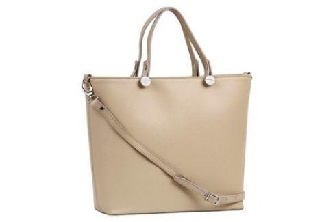 Brastini La Giulia kožená kabelka do ruky béžová Dámské kabelky