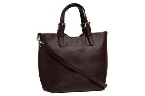 Brastini La Valentina kožená kabelka do ruky tmavě hnědá Dámské kabelky