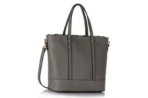 L&S Fashion LS00361 kabelka přes rameno šedá Dámské kabelky