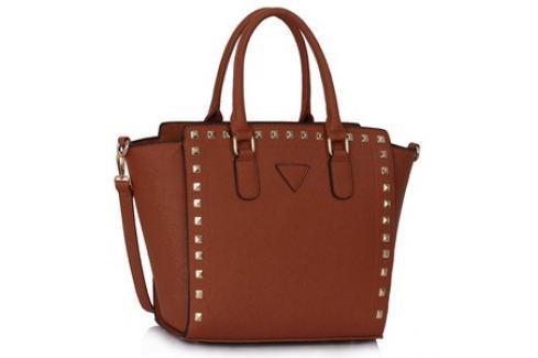L&S Fashion LS00287 kabelka přes rameno přírodní hnědá Dámské kabelky