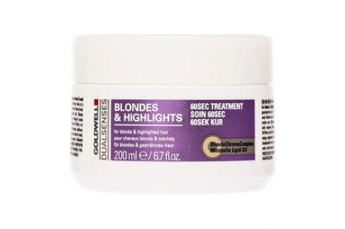Goldwell Dualsenses Blondes & Highlights 60sec Treatment maska pro blond vlasy 200 ml Dámská vlasová kosmetika