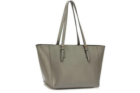 L&S Fashion LS00498 kabelka přes rameno šedá Dámské kabelky
