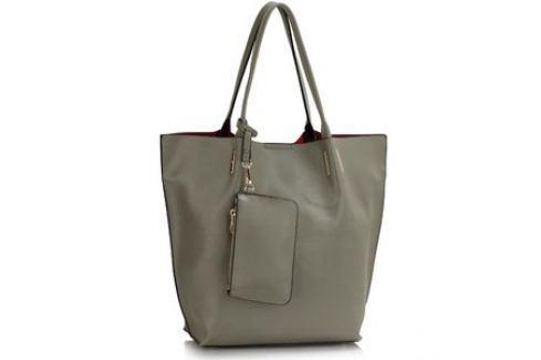 L&S Fashion LS00442 kabelka přes rameno šedá Dámské kabelky
