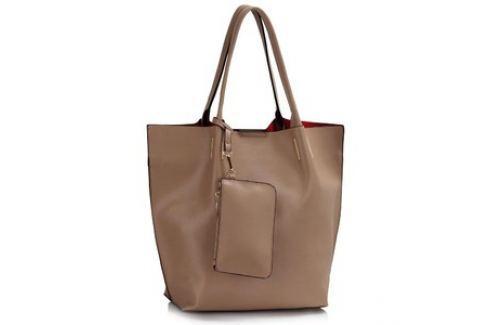 L&S Fashion LS00442 kabelka přes rameno šedohnědá Dámské kabelky