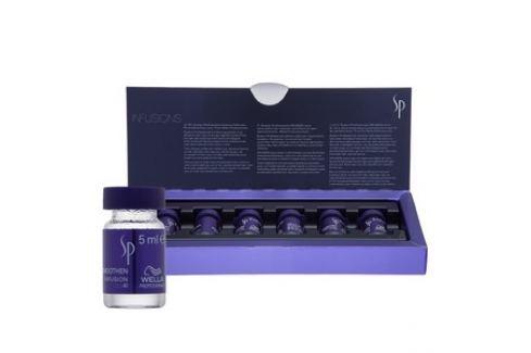Wella Professionals SP Smoothen Infusion vlasová kúra pro nepoddajné vlasy 6 x 5 ml Dámská vlasová kosmetika