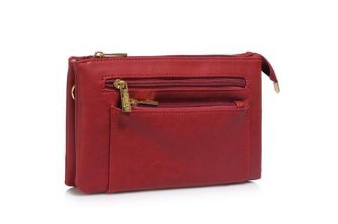 L&S Fashion LS00501 kabelka crossbody červená Dámské kabelky