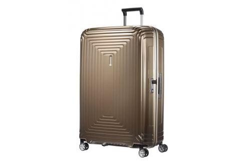 Samsonite Cestovní kufr Neopulse Spinner 44D 124 l - hnědá Cestovná batožina