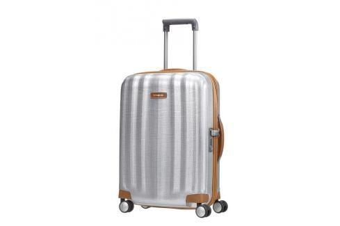 Samsonite Kabinový cestovní kufr Lite-Cube DLX Spinner 82V 36,5 l - stříbrná Cestovná batožina