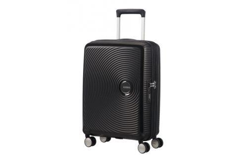 American Tourister Kabinový cestovní kufr Soundbox Spinner EXP 32G 35,5/41 l - černá Cestovná batožina