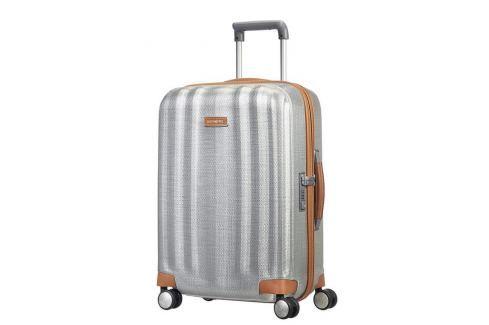 Samsonite Kabinový cestovní kufr Lite-Cube DLX Spinner 82V 43,5 l - stříbrná Cestovná batožina