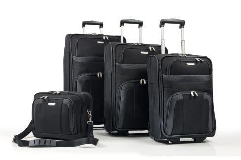Travelite Cestovní sada kufrů S,M,L  + cestovní brašna Orlando 98480-01 Sady cestovních kufrů