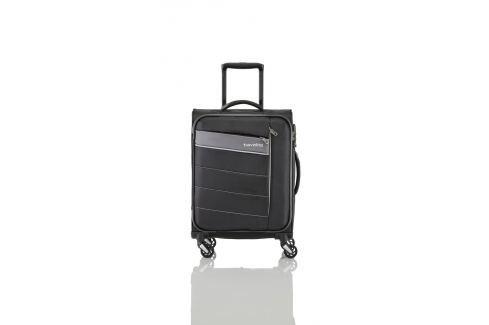 Travelite Cestovní kufr Kite 4w M Black 89948-01 67/77 l Cestovná batožina