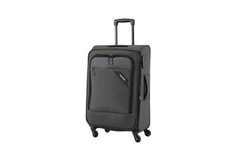 Travelite Cestovní kufr Derby 4w M Anthracite 87548-04 69/79 l Cestovná batožina