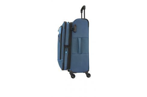 Travelite Cestovní kufr Derby 4w M Blue 87548-20 69/79 l Cestovná batožina