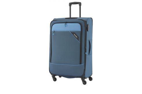 Travelite Cestovní kufr Derby 4w L Blue 87549-20 102/115 l Cestovná batožina