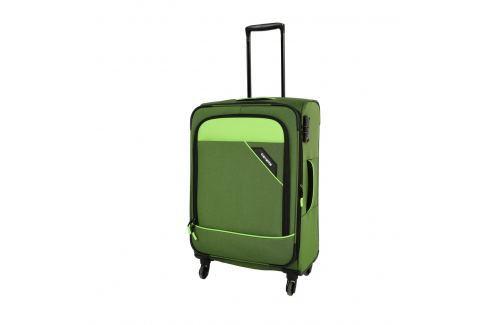 Travelite Cestovní kufr Derby 4w M Green 87548-80 69/79 l Cestovná batožina