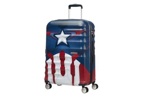 American Tourister Cestovní kufr Wavebreaker Marvel Spinner 31C 64 l - Captain America Close-Up Cestovná batožina