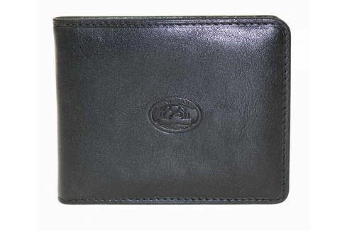 Tony Perotti Kožená peněženka se sponou Italico 2526 - černá Peňaženky
