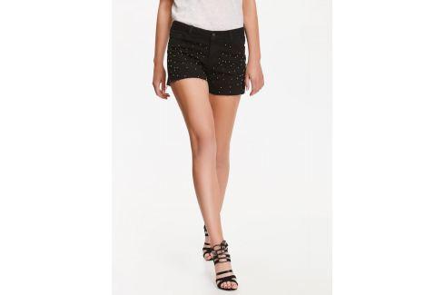 Top Secret šortky dámské černé s kamínky jeans Dámské šortky