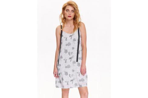 Top Secret šaty dámské bílé vzorované bez rukávu Dámské šaty