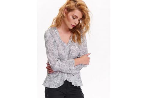 Top Secret Košile dámská vzorovaná s dlouhým rukávem Dámské halenky a košile