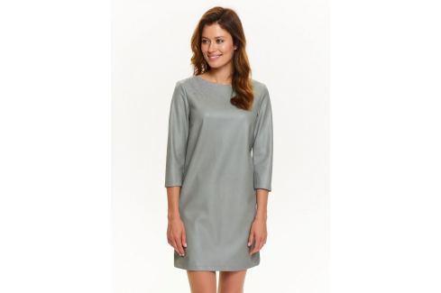 Top Secret šaty dámské šedé s 3/4 rukávem Dámské šaty