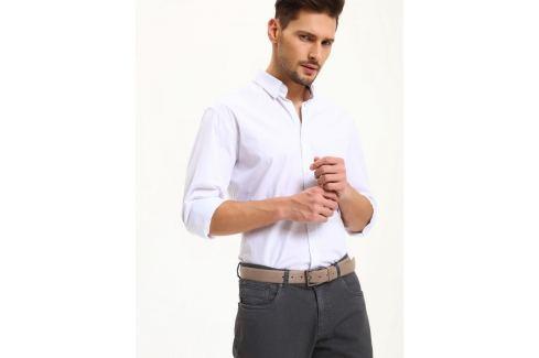 Top Secret Košile pánská bílá s dlouhým rukávem poslední kus Pánské košile