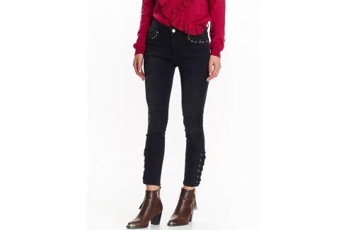 Top Secret Kalhoty dámské černé se šněrováním Dámské kalhoty
