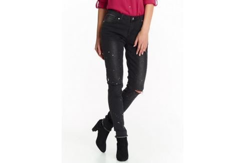 Top Secret Kalhoty dámské s průstřihem na koleni a roztřepným lemem Dámské kalhoty