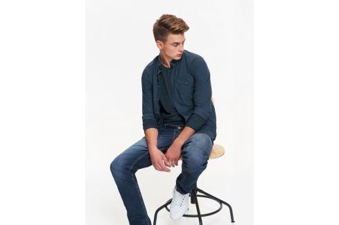 Top Secret Košile pánská jednobarevná s dlouhým rukávem Pánské košile