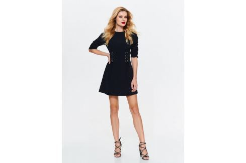 Top Secret šaty dámské černé se šněrováním v pase Dámské šaty