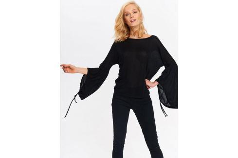 Top Secret Svetr dámský černý s dlouhým rukávem do zvonu Dámské svetry