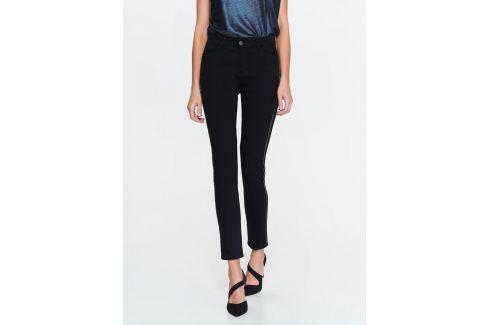 Top Secret Kalhoty dámské černé s úzkým pruhem Dámské kalhoty