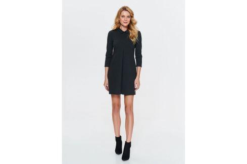 Top Secret šaty dámské tmavě šedé s límečkem Dámské šaty