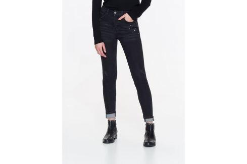 Top Secret Jeansy dámské černé zdobené Dámské kalhoty