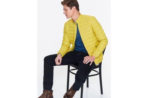 Top Secret Bunda pánská žlutá s jemnou péřovou výplní Pánské kabáty