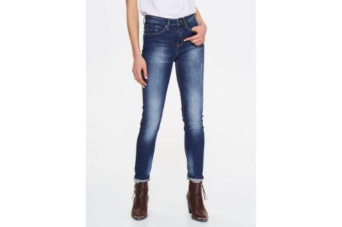 Top Secret Jeansy dámské tmavě modré seprané Dámské kalhoty