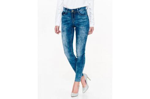 Top Secret Jeansy dámské modré seprané Dámské kalhoty