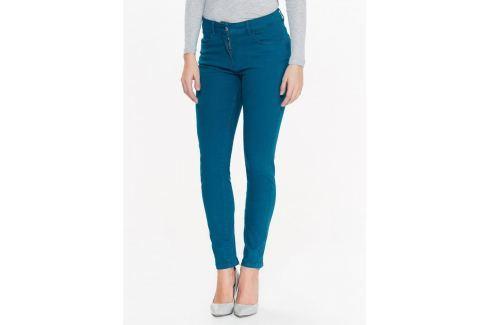 Top Secret Jeansy dámské tyrkysové Dámské kalhoty