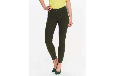 Top Secret Kalhoty dámské zelené SKINNY se zipy na nohavici Dámské kalhoty